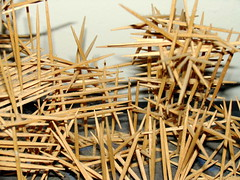 sculpture (1) (madabandon) Tags: wood original sculpture abstract texture grid artwork spears web shapes sharp toothpicks dense thecontinuum