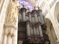 Pipe Organ at St. Ouen (Josh Clark) Tags: cruise2005 rouen saintouen architecture church