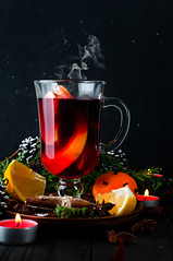 Mulled wine, tree branch and spices (lyule4ik) Tags: wine mulled holiday hot christmas spice background tree branch pine wooden warm decoration table slice red punch festive orange fir cinnamon made roll green craft sweet decorated seasonal magic bright glass grog badiana xmas shape tray fruit spiced cup stars baked beautiful alcohol ornaments sticks drink vintage food beverage decor