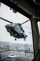 Cyclone Lands on HMCS HALIFAX (Royal Canadian Navy / Marine royale canadienne) Tags: canadianarmedforces canadianforces ch148 cyclone deck flight flying halifax helicopter helo hmcs landing ships trials caf maritime
