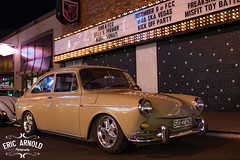 Downtown Fastback (Eric Arnold Photography) Tags: vw volkswagen type3 fatsback fast back wagen wagon beige night vegas lasvegas nv nevada fremont street downtown dtlv bbb 601 light lights marquee porsche wheels low lowered