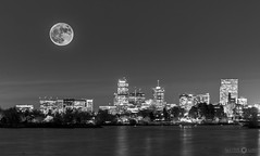 Sloans Lake Supermoon Monochrome (Native5280) Tags: supermoon2016 moon moonlight moonrise denver skyline sloanslake lake citylights milehighcity colorado coloradonative longexposure doubleexposure nightexposure canon 70d canonef100400mmƒ4556lisiiusm sirui k20x w1204 breakthroughphotography fstopgear