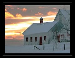 Little Gable (LeFon) Tags: winter sunset white snow canada cold nature field barn wow amazing nikon bravo photographer hiver qubec blanc froid 4winter iloveit magicdonkey hivernale outstandingshots abigfave flickrplatinum