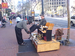 Shoe shiner (Mark) Tags: sanfrancisco shoeshine california