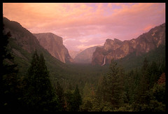 Wawona Tunnel View, Yosemite Valley (Buck Forester) Tags: california sunset mountains nature clouds canon landscape evening waterfall nationalpark view sierra velvia yosemite dome halfdome yosemitenationalpark sierras bridalveil elcapitan sierranevada bridalveilfalls yosemitevalley elcap tunnelview bridalveilfall velvia50 wawonatunnel wawona yosemitewaterfalls gnd warmingfilter wawonatunnelview tunneloverlook sierravisions sierravision
