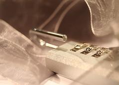 Silk and Steel (MarkyBon) Tags: 15fav lock steel silk 123 ribbon combination 122 numbersinsequence