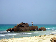 Wrecked ship (Vulk.an) Tags: old travel sea abandoned beach metal landscape geotagged landscapes boat interesting fantastic rust iron ship steel rusty erosion incredible wrecked caboverde ruggine ferro capeverde capoverde distruction geo:lat=16056371 geo:lon=22785645 savevulkan