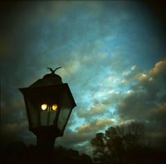 gaslight 3 (WadeB) Tags: sky color film topf25 topv111 clouds 1025fav wow square toy holga topf50 lofi dream irongiant nightmare gaslight bluegreen expiredfilm fujinph400 gloomyheart