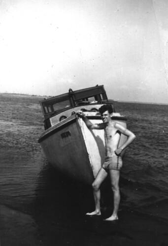 Joe Wilner and somebody's boat