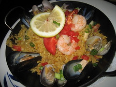 my dad's seafood paella (_melika_) Tags: ca losangeles shrimp scallops seafood clams paella spanishfood thespanishkitchen