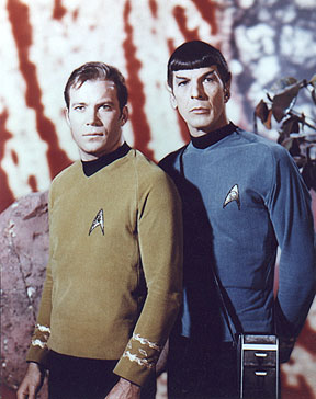 Captain James T and Spock