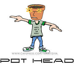 Pot Head Illustration (for T-Shirt) (katyekat30) Tags: flowers plant silly nature illustration garden design graphicdesign hilarious comedy comic graphic gardening landscaping lol unique character text satire cartoon lawn creation claypot adobe drugs statement flowerpot parody pothead illustrator dope marijuana lmao lineart clever bold witty pun hysterical yardwork playonwords