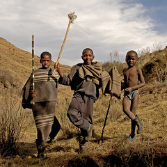 Lesotho, Young shepherds relaxed (pho_kus) Tags: africa boys children shepherd young lesotho supershot mywinners betterthangood