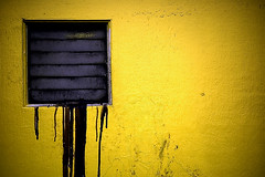 Leak (m4r00n3d) Tags: abstract yellow wall nikon edinburgh nikond50 nikkor leak minimalistic exhaust
