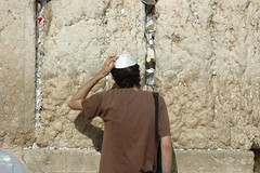 praying (_tonidelong) Tags: 2005 travel summer portrait muro me wall israel jerusalem praying western jerusalen kipa kotel kippa lamentaciones