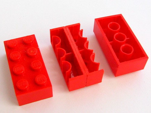 Inside-out Lego brick