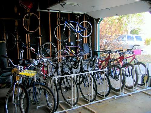 diy garage bike rack