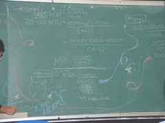 oscchalk2 (chicgeekuk) Tags: toronto ontario laura art chalk class highschool problem math calculus chalkboard kishimoto osc ontariosciencecentre oscsc laurakishimoto laurakishimotoca