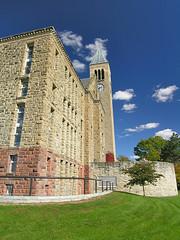 The clock tower (Evil Phantasia) Tags: architecture campus sunny clocktower cornell
