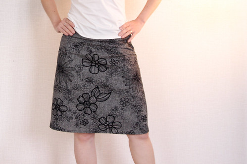 Black Clean Cut Skirt-01