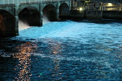 (Molly | Orangette) Tags: water night evening walk dam rush friday ballardlocks october20