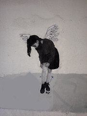 Angel I by Dagas (server pics) Tags: street urban art girl wall graffiti calle arte kunst athens greece grecia atenas writers writer strase grce  pintura  grafite athen griekenland dagas   athnes            athensstreetart         artedelacalledeatenas serverpics