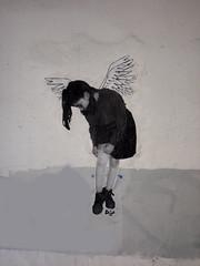 Angel I by Dagas (server pics) Tags: street urban art girl wall graffiti calle arte kunst athens greece grecia atenas writers writer strase grce  pintura  grafite athen griekenland dagas   athnes            athensstreetart         artedelacalledeatenas serverpics