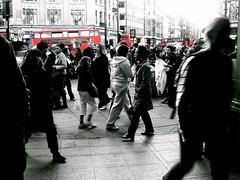 Ubiquitous (edwardkb) Tags: london photoshop sony crowd cybershot bleak oxfordcircus niketown redbus ruvjet edwardbarnieh
