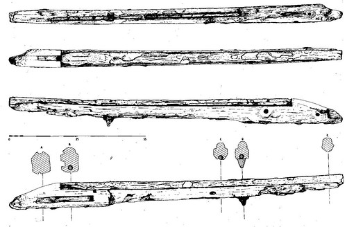 Technical drawing of a musket from the wreck