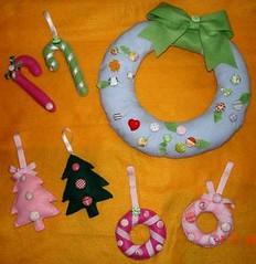 Coleção de Natal (Teka e Fabi®) Tags: christmas natal handmade felt botão button enfeites feltro decorate