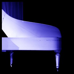 Blue bemol (Christine Lebrasseur) Tags: blue france art 6x6 canon 350d piano onblack 500x500 gauriaguet allrightsreservedchristinelebrasseur