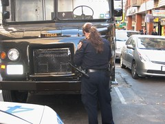 Another Ticket for UPS truck (buff_wannabe) Tags: nyc female parking police nypd ticket cop policewoman
