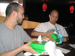 BobbleTwins_02 (Slick Vic) Tags: birthday twins bobbleheads