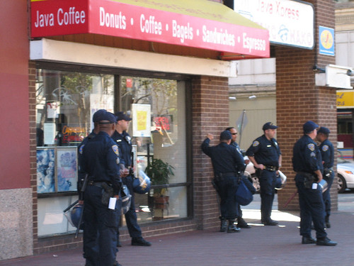 SFPD guarding the Donuts