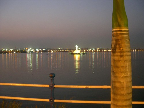 hussain sagar at Hyderabad, India