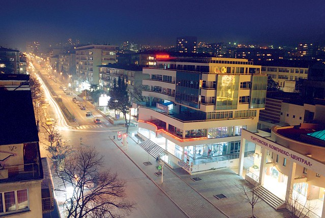 Stara Zagora at night