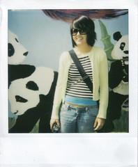 Among the Pandas (Deemonie) Tags: girl polaroid zoo sandiegozoo pandas
