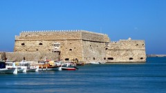 Heraklion (macropoulos) Tags: old port geotagged harbor harbour fort widescreen greece crete venetian fortress heraklion iraklio iraklion canonpowershots45 koules 16by9widescreen geo:lat=35342907 geo:lon=25135067