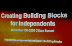 web2 citizen 011 (davemc500hats) Tags: sanfrancisco web20 soma tantek web2 tantekcelik 2ndstreet buildingblocks independents citizensummit citizensummit2006