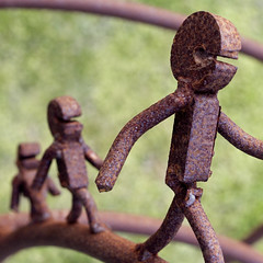 come my tiny metal children (drspam) Tags: sculpture metal rust saveme5 deleteme10 wellington interestingness19 i500 1500v60f