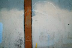 willful (Dill Pixels) Tags: blue cloud brown abstract yellow topv111 wall concrete grey paint spray minimal column rescued purge p45 purged broomhandle graffitieradication