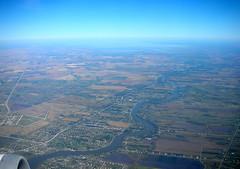 end of the red river (K-Camp) Tags: airport mainstreet winnipeg 2006 aerial manitoba standrews redriver selkirk stclements lakewinnipeg hendersonhighway