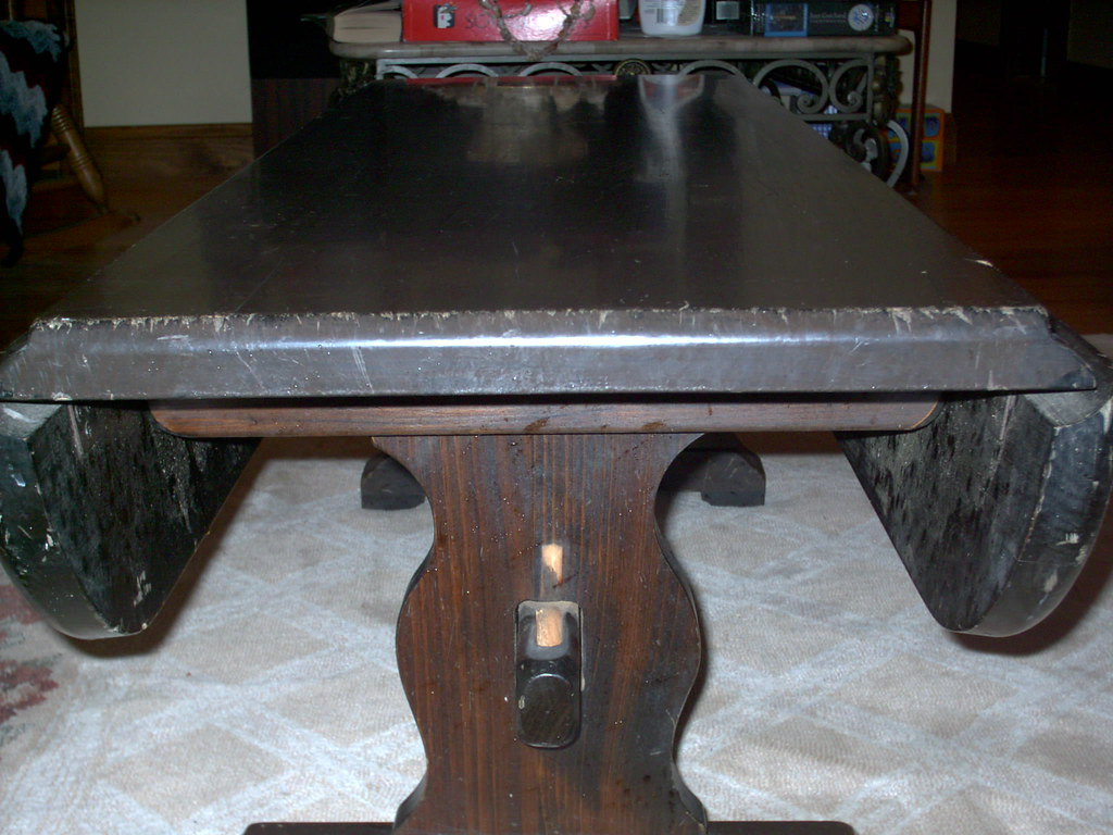 Drop Style Mahogany Coffee Table 003