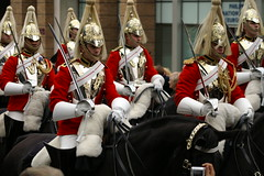 Horse Guards (David Wilmot) Tags: show city uk horses london metal soldier gold shiny helmet parade sword procession tradition guards lordmayorsshow pagentry