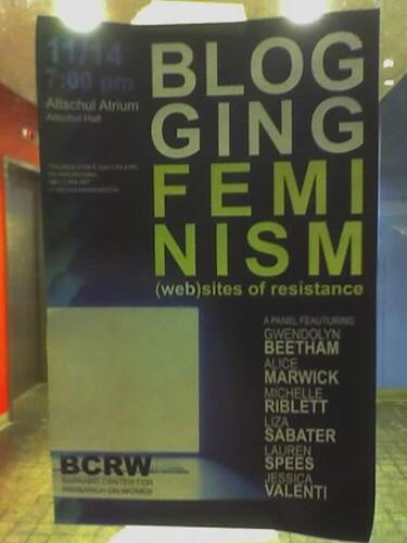 blogging feminism flyer by Liz Henry
