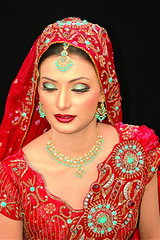 bride2 (Ariaana) Tags: red woman face fashion bride model designer jewellery bridal modelling reddress fashionmodel pakistanfashion ariaana flickrglam