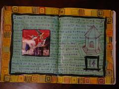 2006-11-14 (Crazyquilter) Tags: collage sketch diary journal visualjournal edm artjournal compositionbook eraserstamp
