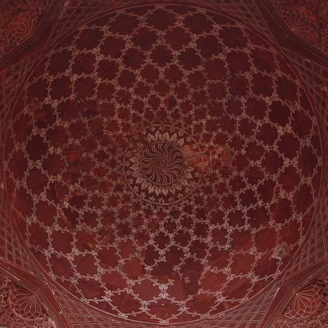 Taj Mahal mosque or masjid ceiling
