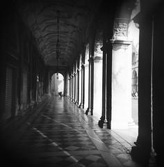 Arcade San Marco (J.T.R.) Tags: venice bw italy 120 architecture square top20favorites holga 120film venezia renaissance holga120s holgography