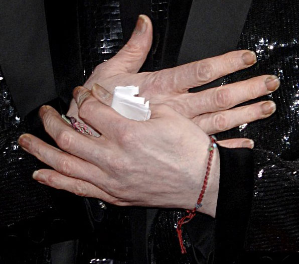 Unhas de Michael Jackson no World Music Awards, 15 de novembro de 2006.